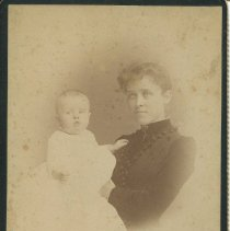 Image of Photograph of Margaret Porter and Athol Estes, ca. 1890; front