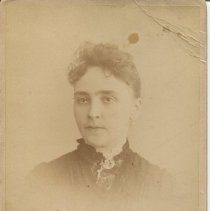 Image of Photograph of Effie Roach Hofer, ca. late-1880s; front