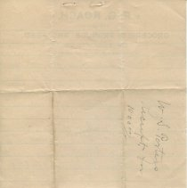 Image of Receipt from P.G. Roach's store, signed by W.S. Porter; verso