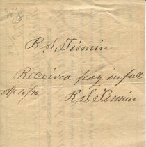 Image of sory note signed by W.S. Porter & P.G. Roach, verso