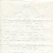 Image of Letter from Judge O'Quinn to Harry Hofer, verso