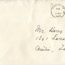 Image of Front of envelope