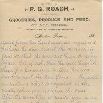 Image of Letter from P.G. Roach to L.N. Perkins, Esq.; page 2, recto