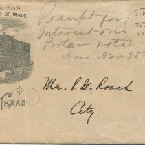 Image of Envelope addressed to P.G. Roach, front
