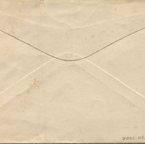 Image of Envelope addressed to P.G. Roach, back
