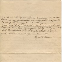 Image of Letter from G.W. Walters to P.G. Roach, verso
