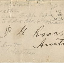 Image of Envelope addressed to P.G. Roach, Esqr., front