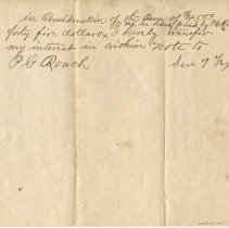 Image of Promissory note signed by E.H. Daily, verso