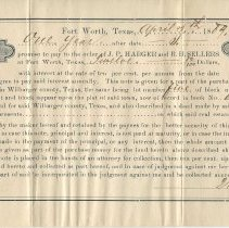 Image of Promissory note signedy by W.C. Diggs, recto