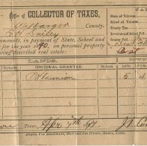 Image of Receipt for taxes collected from E.H. Daily, recto