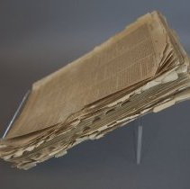 Image of Fore-edge, before conservation treatment