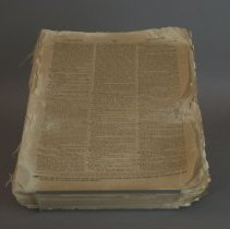 Image of Front page, before conservation treatment