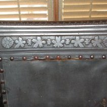 Image of Close-up of detail on inside of chair back