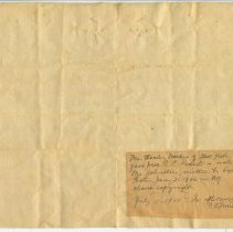 Image of Letter from Sydney Porter (O. Henry) to Mr. Johnston, verso
