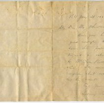 Image of Letter from Sydney Porter (O. Henry) to Mr. Johnston, recto