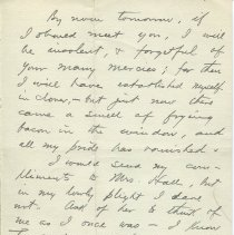 Image of Letter from O. Henry to Gilman Hall; page 1 verso