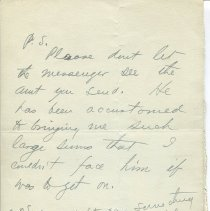 Image of Letter from O. Henry to Gilman Hall; page 2 recto