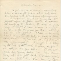 Image of Letter from O. Henry to Gilman Hall, page 1 recto