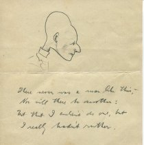 Image of Sketch and limerick attributed to O. Henry, recto