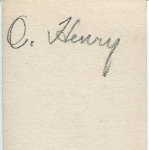 Image of Studio photograph of O. Henry, back