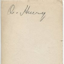Image of Studio photograph of O. Henry, back