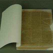 Image of First page, after conservation treatment