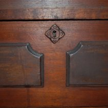 Image of Close-up of drawer keyhole (second from top)