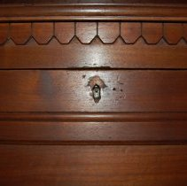 Image of Close-up of keyhole that opens drop-down panel