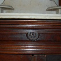 Image of Close-up of top drawer keyhole