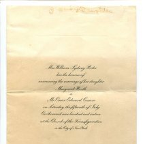 Image of Announcement, Wedding - Wedding Announcement for Margaret Worth Porter and Oscar Edward Cesare