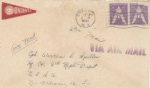 Image of 14.11.01, WWII Envelope to Warren Spitler