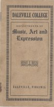 Image of Daleville College Departments of Music, Art and Expression catalog, circa 1920s - 14.16.001