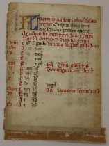 Image of 12th cent. French manuscript fragment, likely a book of hours - 54.1.1252a