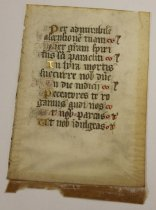 Image of 12th cent. French manuscript fragment - 54.1.1252c