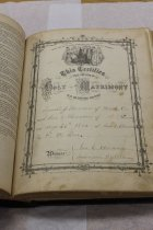 Image of 17.13.002, Book, Marriage Record