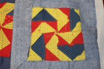 Image of 96.06.001 Quilt Top Back Detail- Handstitching