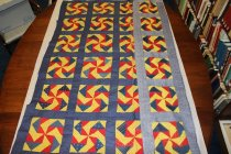 Image of 96.06.001 Quilt Top Front (One Column Turned Back)