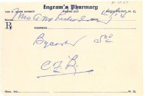 Image of drug receipt