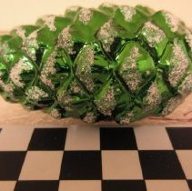 Image of Green Pine Cone Christmas Ornament