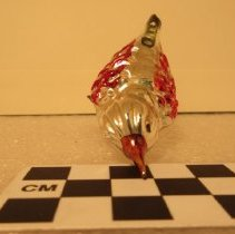 Image of Red & Silver Christmas Ornament with Clip