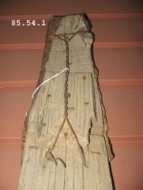 Image of wooden skis detail