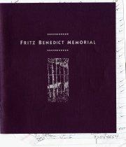 Image of Fritz Benedict Memorial service program