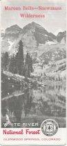 Image of Maroon Bells-Snowmass Wilderness Area Brochure