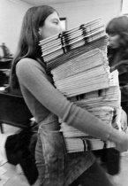 Image of Carol Johnson, Newspaper Stack, 1970-