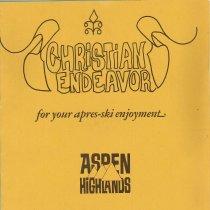 Image of Christian Endeavor menu