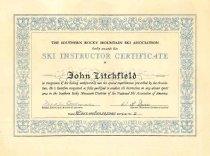 Image of Ski Instructor Certificate