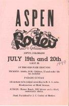 Image of Aspen Rodeo program
