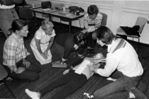 Image of Blue Ladies learn CPR, 1979