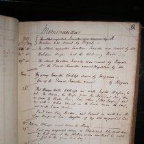 Image of page of Henry Clay's notes