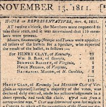 Image of Report of Henry Clay Election